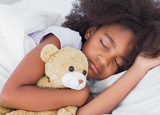 Young girl sleeping soundly