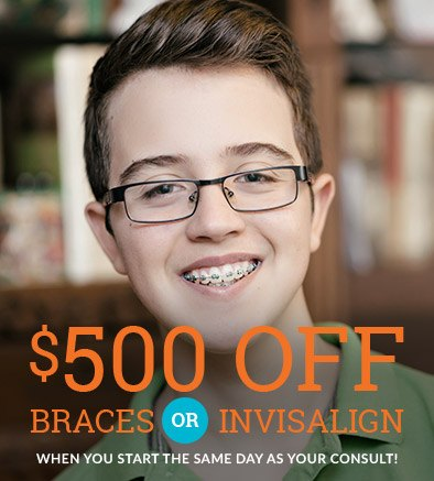 $500 off  braces or Invisalign coupon