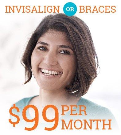 $99 a month brces or Invisalign coupon
