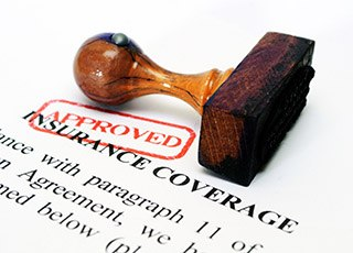 Dental insurance form with approved stamp