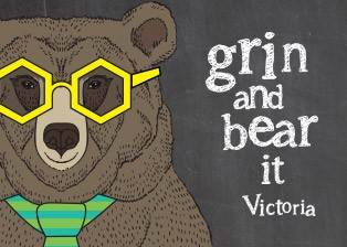 Animated bear wearing glasses