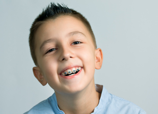 Little boy with braces
